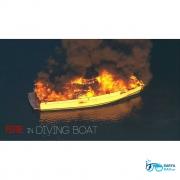 آتش سوزی در قایق غواصی